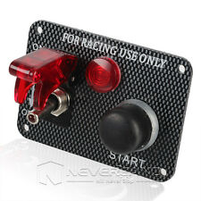 New 12V Racing Car Ignition Switch Panel Engine Start Push Button Red LED Toggle