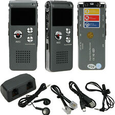 New 8GB CL-R30 650Hr Digital Voice Recorder with U Disk Function Silver US Ship