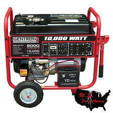 Gentron GG10020 Generator 10,000 watt W/ ELECTRIC START-  HOME BACKUP NEW