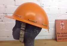Vintage Orange Hard Hat Antique Hardhat Made In Poland Head Protection Helmet