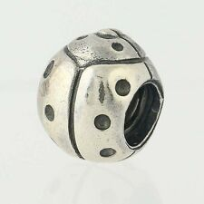 NEW Pandora Ladybug Bead Charm - Sterling Silver Retired 790135