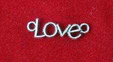 "10pc ""Love"" connector charms in antique silver style (BC754)"
