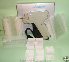 GARMENT PRICE LABEL TAGGING TAG GUN WITH 2000 BARBS 100 PRICE LABELS + 2 NEEDLES