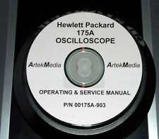HP 175A Oscilloscope Operating & Service  Manual (Commercial)