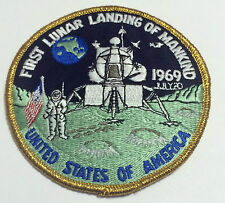 Neil Armstrong Apollo 11 First Lunar Landing Mankind Patch Official NASA 1969
