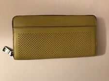 NWT Coach Men's Perforated Leather Accordion Zip Around Wallet Clutch 75222