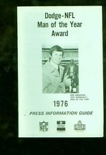 1976 Dodge-NFL Man of the Year Award football media guide