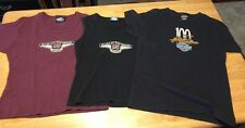 Lot Of 3-VTG HARLEY DAVIDSON 95th and 100th ANNIVERSARY TOPS-EUC