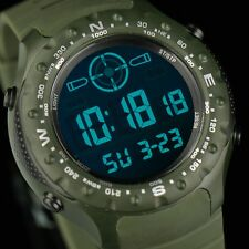 INFANTRY Mens LCD Digital Wrist Watch Sport Army Fashion Rubber Army Chronograph