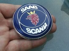 SAAB Scania  9-3 9-5 RESIN DOMED BONNET BADGE BRAND NEW PART  63mm