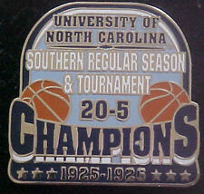 NORTH CAROLINA TAR HEELS 1925-26 SOUTHERN CHAMPS WILLABEE & WARD COMM SERIES PIN