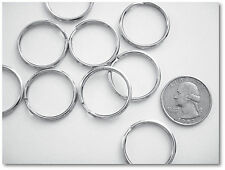 "WHOLESALE LOT 1000 KEY RINGS 24mm 1"" Split Ring Silver"