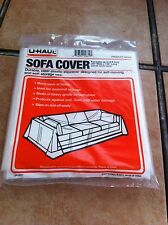 "Durable Clear Plastic Sofa Cover for Sofas up to 8ft Long (42"" Wide x 134"" Long)"