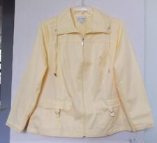 Studio Works Size 2X Lt Yellow zip front jacket, long sleeves, cotton blend NWT