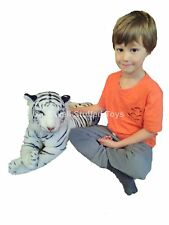 "White Tiger Plush Soft Toy Large Medium 100cm 40"" with tail 70cm without"