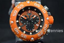 INVICTA SUBAQUA NITRO SWISS CHRONOGRAPH ORANGE BLACK RUBBER STRAP WATCH 10039