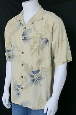 TOMMY BAHAMA Men's Hawaiian Silk Front-Button Shirt, XL, Out on the Town Perfect