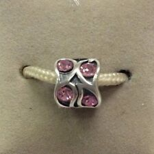 Chamilia Jewelry Paisley Rose Pink Swarovski Bead Sterling Silver Charm