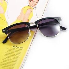 Black Silver Retro Vintage Womens Mens Designer Oversized Sunglasses Glasses FT