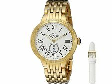 "Gevril GV2 Women 9101 ""Astor"" Diamond-Studded Gold Stainless Steel Quartz  Watch"