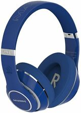 Massive Audio Blue Bluetooth Flex Extreme Bass Beats Headphones Gift Christmas