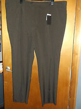 "FB Collection Pleat Front Tailored Unhemmed Trousers W52"" Up to 33"" Brown BNWT"