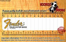 Fender Telecaster Bass (Yellow logo) Headstock Restoration Waterslide Decal
