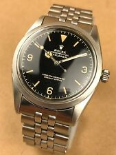 ROLEX Explorer I Model 5504 Vintage 1958 Watch 1530 Movement - Genuine & RARE