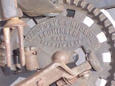 Antique C E Hudson Apple Parer / Peeler Patent 1882