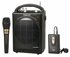 Pyle Pro Audio PWMA200 Rechargeable Pa System W/ Wireless Lavalier & Wired Mic