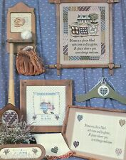 HOME Seen Series Swingers Son Poem Ball Glove Cross Stitch Pattern 1985
