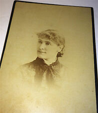 Antique Victorian Fashion ID'd Frances C. Mann! Denver, Colorado Cabinet Photo!