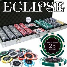 500 Ct Poker Chip Set Aluminum Case 14 g Chips Casino Like Card Decks