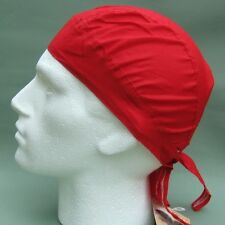 Red Ready Tie Bandana Du Do Doo Rag Zandanna Zandana Fitted plain