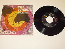 "THE CASTELLS ""TWO LOVERS/JERUSALEM"" disco 45 giri UA Italy"