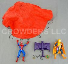 Parachute Spider-Man & Hob Goblin w/ Glider and Pumpkin Bombs Marvel Toy Biz 94