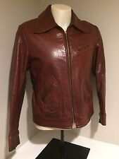 Vintage William Barry Leather Jacket. Racing/Motorcycle Jacket Men's Size 42