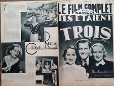 """LE FILM COMPLET 1936 N 1867 """"ILS ETAIENT TROIS"""", avec MIRIAM HOPKINS"""