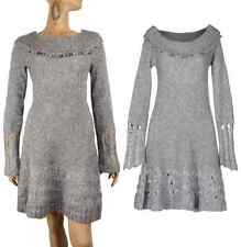 SAVE THE QUEEN SWEATER DRESS MOHAIR WOOL LONG SLEEVE EMBELLISHED sz S Small