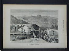 Illustrated London News Full Page B&W S6#100 Jan 1879 Afghan War: Fort at Dakka