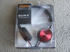 Brand New Sony MDR-ZX300 Studio Monitor High Power Magnet Stereo Headphones Red