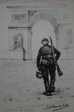 LITHOGRAPHIE MUSELIER SIGNEE DERNIER DES MOHICANS PARIS GUERRE 39-45 RESISTANCE