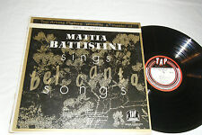 MATTIA BATTISTINI Sings Bel Canto Songs LP Song Recital TAP T-302 EX