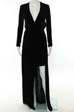 Issa Black Long Sleeve Antonia Gown Size 6 New $1095 10209231