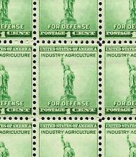 1940 - STATUE OF LIBERTY - #899 Full Mint -MNH- Sheet of 100 Postage Stamps
