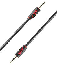 QED perfil j2j 3m 3,5 Mm Mini Jack A Mini jack estéreo Cable De Audio B Stock)
