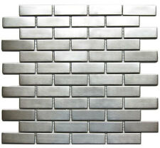 Stainless Steel Mosaic 1x3 for Backsplashes, Showers & More - BOX OF 11 SQFT