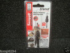 """TREND SNAPPY TCT DRILL COUNTERSINK WITH 1/4"""" HEX SHANK SNAP/CS/12TC 10 & 12"""