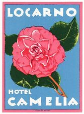 Hotel Camelia LOCARNO Switzerland luggage label Kofferaufkleber  - BRUGGER