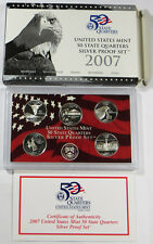 2007 US MINT SILVER QUARTERS PROOF SET BOX/COA